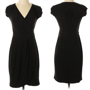 New York & Company black faux wrap casual dress XL